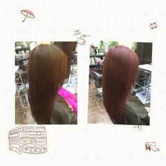 モテ髪 ピンク ミディアム レッド ヘアスタイルや髪型の写真・画像