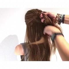 夏 涼しげ 簡単ヘアアレンジ アウトドア ヘアスタイルや髪型の写真・画像
