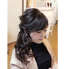黒髪 ヘアアレンジ ロング 上品 ヘアスタイルや髪型の写真・画像