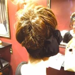 アップスタイル 大人かわいい ヘアアレンジ ナチュラル ヘアスタイルや髪型の写真・画像