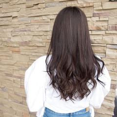 ハイライト ロング 秋 アウトドア ヘアスタイルや髪型の写真・画像