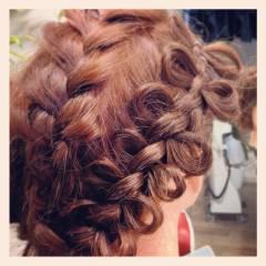 編み込み モテ髪 ヘアアレンジ コンサバ ヘアスタイルや髪型の写真・画像