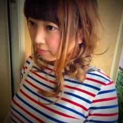 ストリート 大人かわいい ゆるふわ ヘアアレンジ ヘアスタイルや髪型の写真・画像