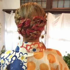 ヘアアレンジ 和装 簡単 アップスタイル ヘアスタイルや髪型の写真・画像