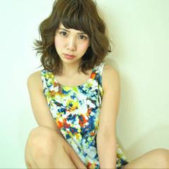 ガーリー ミディアム 外ハネ 大人女子 ヘアスタイルや髪型の写真・画像