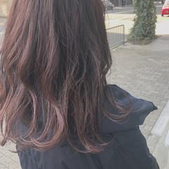 ガーリー ピンクバイオレット ヘアアレンジ イルミナカラー ヘアスタイルや髪型の写真・画像