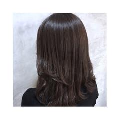 ラベンダーグレー ラベンダーグレージュ ラベンダーアッシュ ミディアム ヘアスタイルや髪型の写真・画像