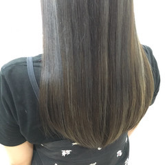 暗髪 ロング ストリート 外国人風 ヘアスタイルや髪型の写真・画像