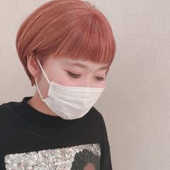ナチュラル ピンクベージュ ベリーショート ショートヘア ヘアスタイルや髪型の写真・画像