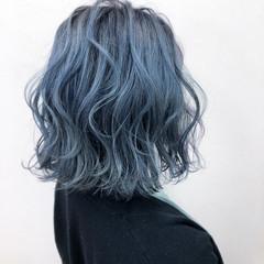ハイトーンカラー 派手髪 ストリート ボブ ヘアスタイルや髪型の写真・画像