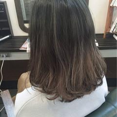 グラデーションカラー アッシュ ボブ 大人かわいい ヘアスタイルや髪型の写真・画像