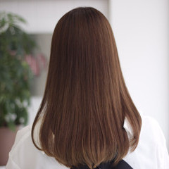 透明感カラー ヘアオイル ストレート ロング ヘアスタイルや髪型の写真・画像