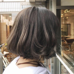 ストリート ボブ 3Dカラー ハイライト ヘアスタイルや髪型の写真・画像