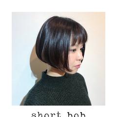 かわいい ボブヘアー ショートボブ ナチュラル ヘアスタイルや髪型の写真・画像