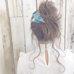 ニュアンス 大人女子 ミディアム ミルクティー ヘアスタイルや髪型の写真・画像