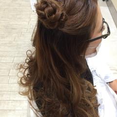 ヘアアレンジ お団子 ショート 夏 ヘアスタイルや髪型の写真・画像