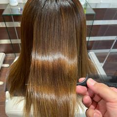 縮毛矯正 ロング ナチュラル 髪質改善トリートメント ヘアスタイルや髪型の写真・画像