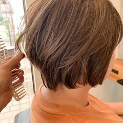 ハイライト ショートヘア デザインカラー ショートボブ ヘアスタイルや髪型の写真・画像