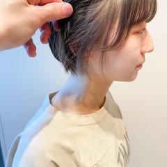 ミニボブ ショートボブ ナチュラル インナーカラー ヘアスタイルや髪型の写真・画像
