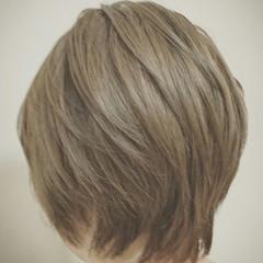 外国人風 ナチュラル ボブ アッシュ ヘアスタイルや髪型の写真・画像
