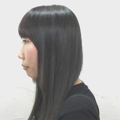 アッシュ 暗髪 ハイライト 外国人風 ヘアスタイルや髪型の写真・画像