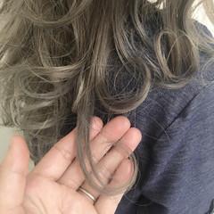 透明感 イルミナカラー 抜け感 セミロング ヘアスタイルや髪型の写真・画像