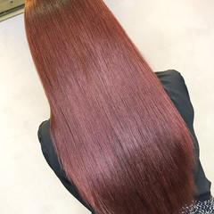 ラベンダーピンク ロング ナチュラル ピンク ヘアスタイルや髪型の写真・画像