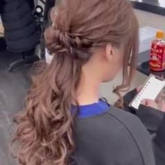 結婚式 エレガント ヘアアレンジ ヘアセット ヘアスタイルや髪型の写真・画像