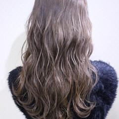 アンニュイ ベージュ ナチュラル セミロング ヘアスタイルや髪型の写真・画像