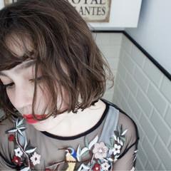 外国人風 パーマ ニュアンス ナチュラル ヘアスタイルや髪型の写真・画像