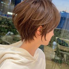 ママヘア ナチュラル 40代 ショート ヘアスタイルや髪型の写真・画像