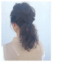 パーマ ショート ヘアアレンジ ミディアム ヘアスタイルや髪型の写真・画像