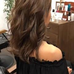 上品 ブラウン ロング オフィス ヘアスタイルや髪型の写真・画像