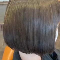 ボブ 縮毛矯正 ナチュラル 最新トリートメント ヘアスタイルや髪型の写真・画像