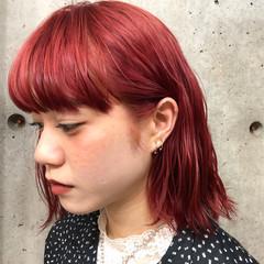 ストリート ボブ インナーカラー 極細ハイライト ヘアスタイルや髪型の写真・画像