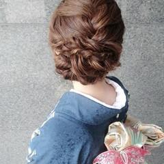 簡単ヘアアレンジ こなれ感 ショート ナチュラル ヘアスタイルや髪型の写真・画像