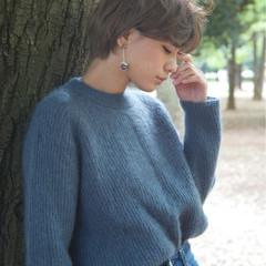 ボブ 秋 透明感 冬 ヘアスタイルや髪型の写真・画像