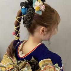 成人式カラー 成人式ヘアメイク着付け ガーリー 成人式ヘア ヘアスタイルや髪型の写真・画像