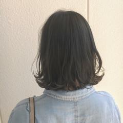 ストリート 暗髪 ボブ グレー ヘアスタイルや髪型の写真・画像