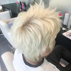 ショート ブリーチ 外国人風カラー ストリート ヘアスタイルや髪型の写真・画像