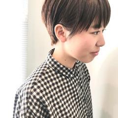 マッシュショート ベリーショート ショートヘア ハンサムショート ヘアスタイルや髪型の写真・画像