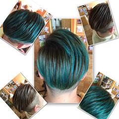 ボーイッシュ ショート メンズ 坊主 ヘアスタイルや髪型の写真・画像