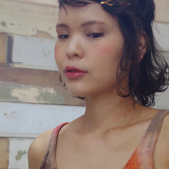 フェミニン ショート 簡単ヘアアレンジ ヘアアレンジ ヘアスタイルや髪型の写真・画像
