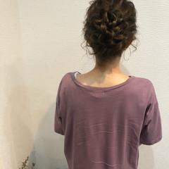 ヘアセット お団子 お団子アレンジ フェミニン ヘアスタイルや髪型の写真・画像