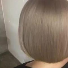 ストリート ハイトーンカラー ボブ ダブルカラー ヘアスタイルや髪型の写真・画像