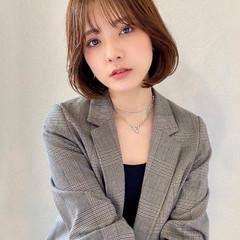 韓国ヘア ボブ モテボブ 韓国風ヘアー ヘアスタイルや髪型の写真・画像