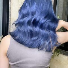 切りっぱなしボブ ミディアムレイヤー ミルクティーベージュ ラベンダーカラー ヘアスタイルや髪型の写真・画像