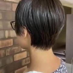 ハンサムショート 透明感 イルミナカラー ナチュラル ヘアスタイルや髪型の写真・画像