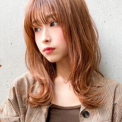 レイヤースタイル 愛され セミロング ゆるふわパーマ ヘアスタイルや髪型の写真・画像
