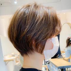 ナチュラル 丸みショート アンニュイほつれヘア ベリーショート ヘアスタイルや髪型の写真・画像